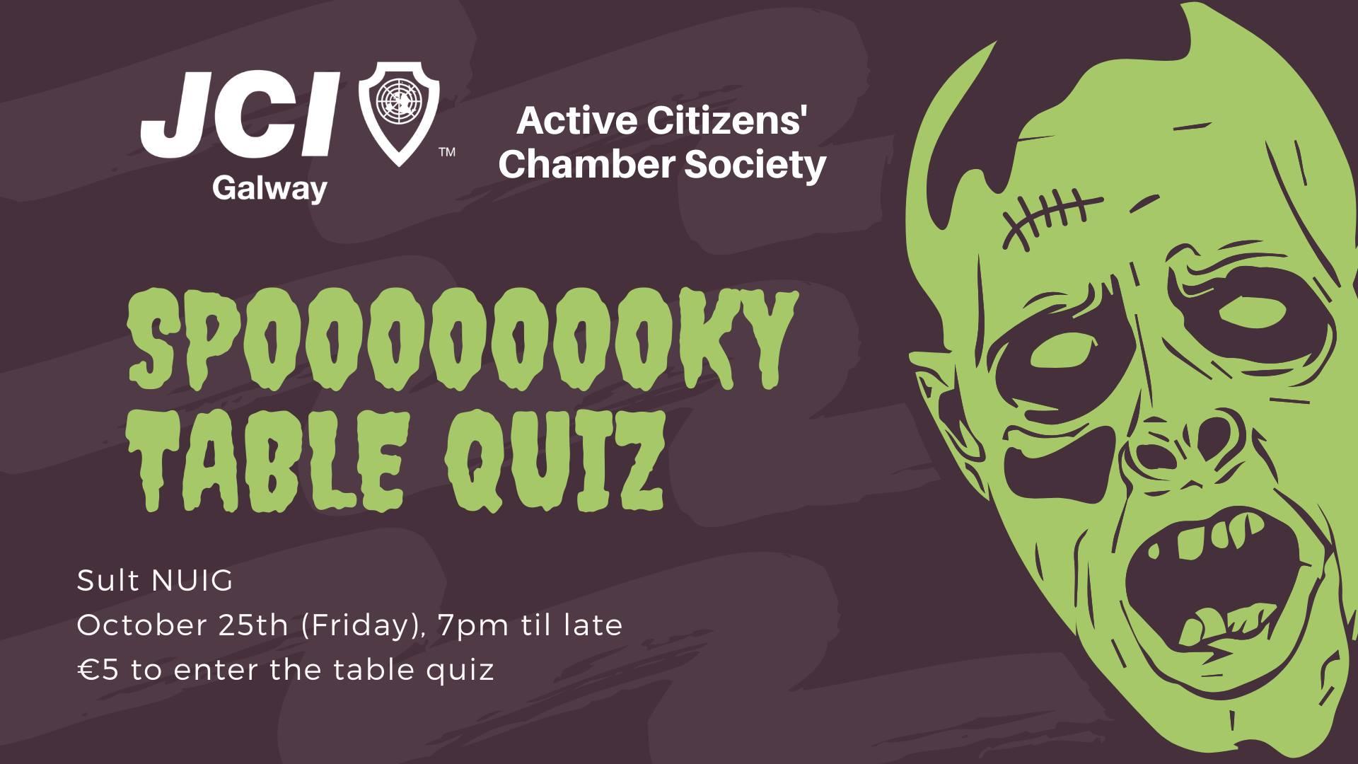 Halloween Spoooky Table Quiz